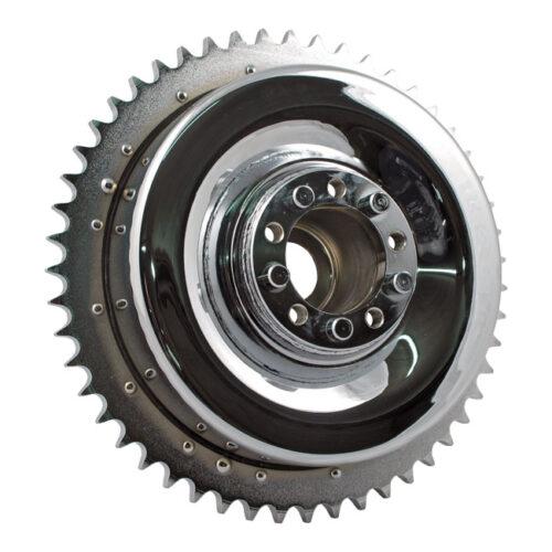 REAR BRAKE DRUM WITH INSTALLED SPROCKET. Webshop voor onderdelen en parts voor Harley-Davidson