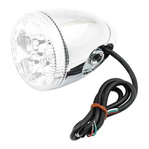 3-1 LED BULLET TAILLIGHT / TURN SIGNAL WITHOUT STUD; CHROME; CLEAR LENS. Webshop voor onderdelen en parts voor Harley-Davidson