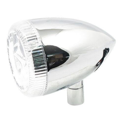 3-1 LED BULLET TAILLIGHT / TURN SIGNAL WITH UNIVERSAL STUD; CHROME; CLEAR LENS. Webshop voor onderdelen en parts voor Harley-Davidson