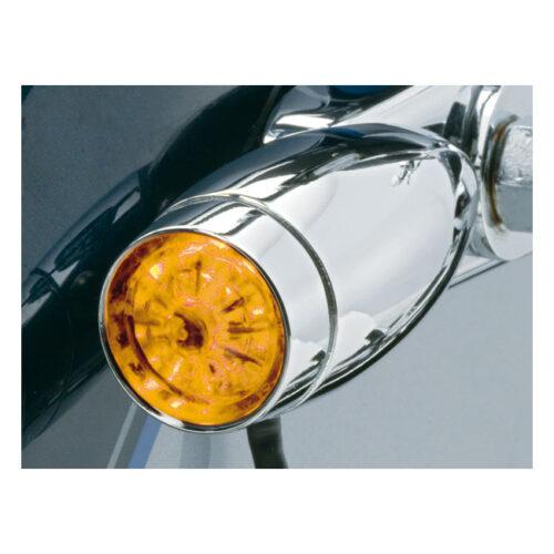 KURYAKYN LED MINI BULLETS CLEAR & AMBER LENSES; FENDER STRUT MOUNT 5/16 HOLE. Webshop voor onderdelen en parts voor Harley-Davidson