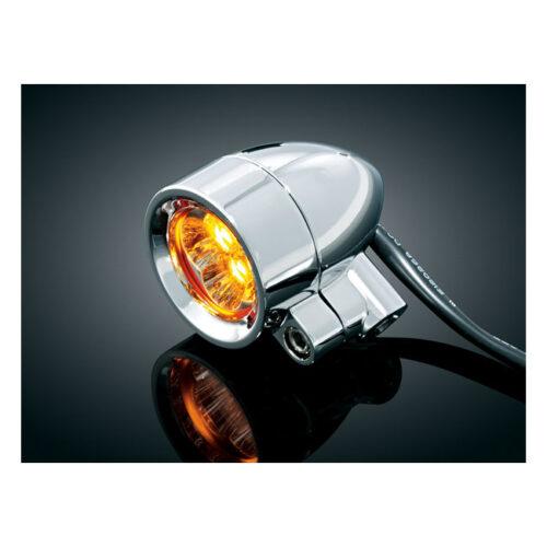 KURYAKYN SUPER BRIGHT SILVER BULLETS SMALL AMBER; LED; RUN-TURN DUAL FUNCTION; WITH 5/16-18 MOUNTING BOLT. Webshop voor onderdelen en parts voor Harley-Davidson