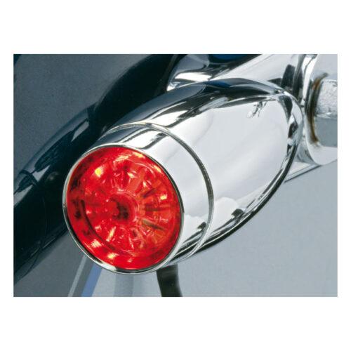 KURYAKYN LED MINI BULLETS CLEAR & RED LENSES; FENDER STRUT MOUNT 5/16 HOLE. Webshop voor onderdelen en parts voor Harley-Davidson