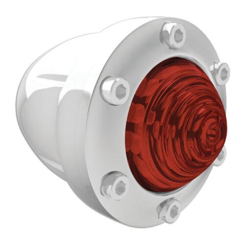 RSD TURN SIGNAL SET REAR TRACKER CHROME - RED LENS. Webshop voor onderdelen en parts voor Harley-Davidson