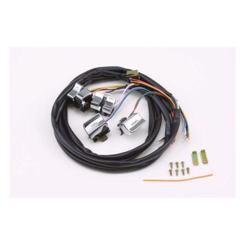 H.BAR WIRE HARNESS & CHROME SWITCH KIT . Webshop voor onderdelen en parts voor Harley-Davidson