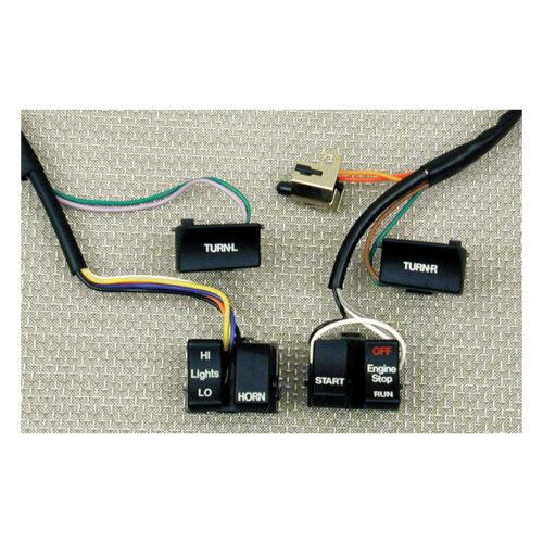 H.BAR WIRE HARNESS & BLACK SWITCH KIT . Webshop voor onderdelen en parts voor Harley-Davidson