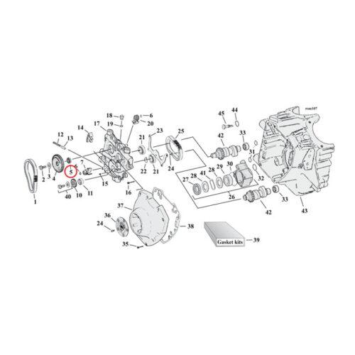 SPACER CAM DRIVE GEAR .297 INCH . Webshop voor onderdelen en parts voor Harley-Davidson