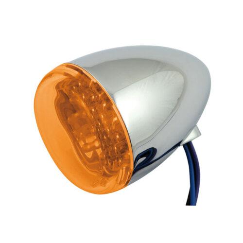 CHRIS LED BULLET LIGHT CLEAR LEDS THAT EMIT AMBER LIGHT; WITH AMBER LENS. Webshop voor onderdelen en parts voor Harley-Davidson