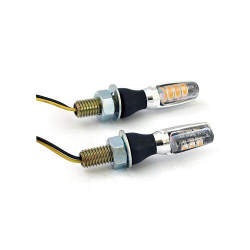 SPARK LED TURN SIGNALS CHROME ABS HOUSING; CLEAR LENS; E MARKED; M8 BOLT. Webshop voor onderdelen en parts voor Harley-Davidson