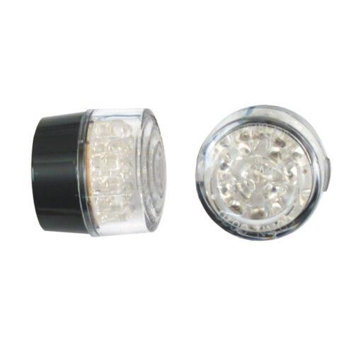 MINI BULLET TURNSIGNALS -NO HOUSING- LED LEDS WITH EC APPR. CLEAR LENS; 32MM DIAMETER. Webshop voor onderdelen en parts voor Harley-Davidson