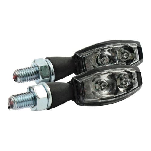 LED TURN SIGNALS BLAZE BLACK; CLEAR LENS; E-MARKED. Webshop voor onderdelen en parts voor Harley-Davidson