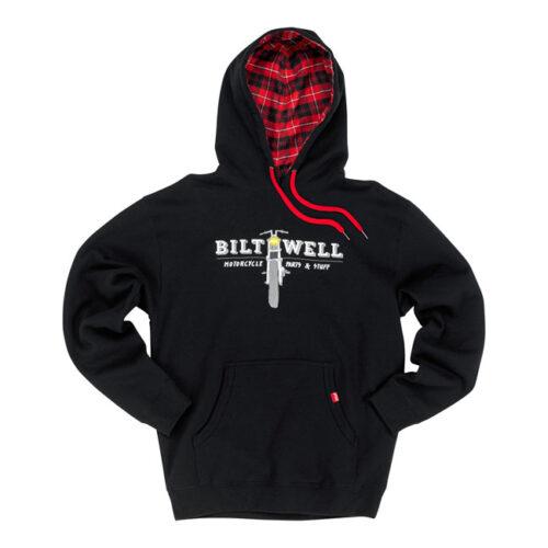 BILTWELL PARTS PULLOVER HOODIE BLACK