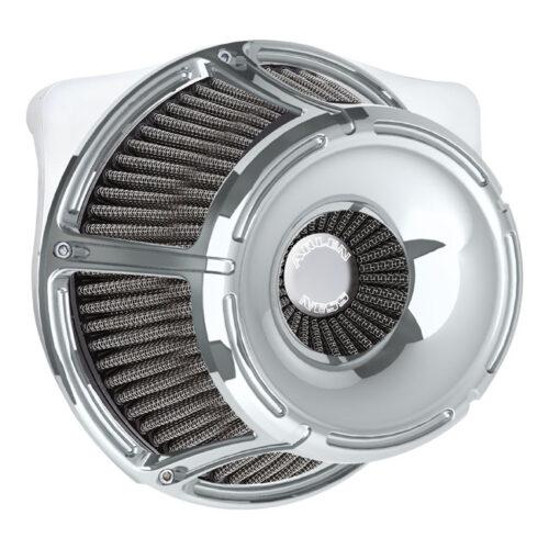 NESS SLOT TRACK INVERTED AIR CLEANER KIT CHROME. Webshop voor onderdelen en parts voor Harley-Davidson