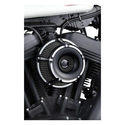 NESS SLOT TRACK INVERTED AIR CLEANER KIT BLACK. Webshop voor onderdelen en parts voor Harley-Davidson