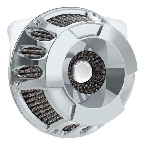 NESS DEEP CUT INVERTED AIR CLEANER KIT CHROME. Webshop voor onderdelen en parts voor Harley-Davidson