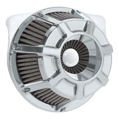 NESS BEVELLED INVERTED AIR CLEANER KIT CHROME. Webshop voor onderdelen en parts voor Harley-Davidson