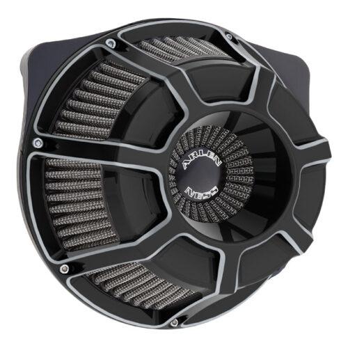 NESS BEVELLED INVERTED AIR CLEANER KIT BLACK. Webshop voor onderdelen en parts voor Harley-Davidson