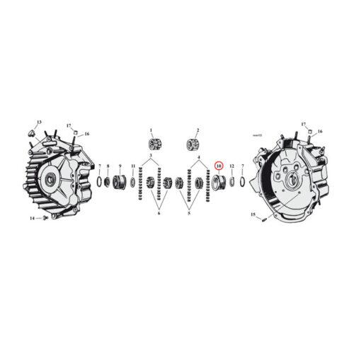 JIMS BUSHING RIGHT CRANKCASE. +.005 . Webshop voor onderdelen en parts voor Harley-Davidson
