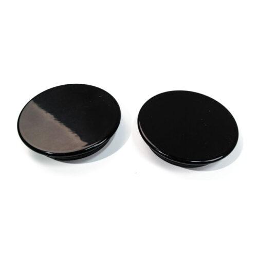 CULTWERK SWINGARM BOLT COVER KIT GLOSS BLACK POWDERCOATED ALUMINUM. Webshop voor onderdelen en parts voor Harley-Davidson
