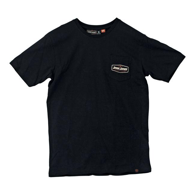 Jesse James Pocket Logo T Shirt Black Downtown American