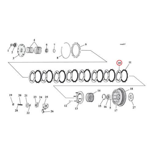 ALTO STEEL CLUTCH PLATE SET STEELS ONLY. Webshop voor onderdelen en parts voor Harley-Davidson