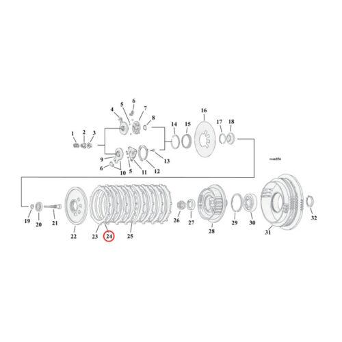 ALTO STEEL CLUTCH PLATE SET INCL. 6 STEELS; XR1200 7 REQUIRED. Webshop voor onderdelen en parts voor Harley-Davidson