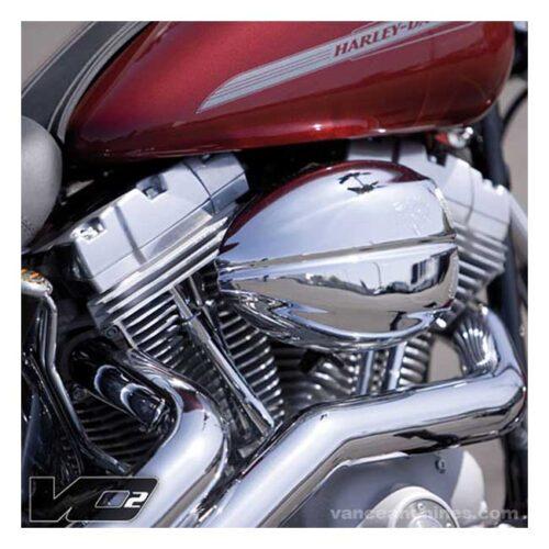 V&H VO2 AIRCLEANER ASSEMBLY & DRAK COVER CHROME; WASHABLE FILTER ELEMENT. Webshop voor onderdelen en parts voor Harley-Davidson