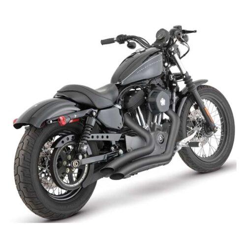 V&H BIG RADIUS 2-2 BLACK. Webshop voor onderdelen en parts voor Harley-Davidson