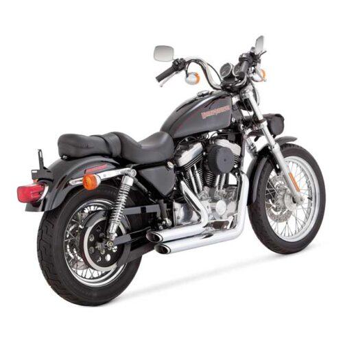 V&H SHORTSHOTS STAGGERED CHROME. Webshop voor onderdelen en parts voor Harley-Davidson