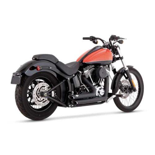 V&H SHORTSHOTS STAGGERED BLACK. Webshop voor onderdelen en parts voor Harley-Davidson