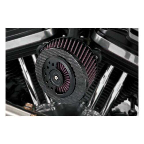 V&H/RSD SLANT SERIES AIR INTAKE KIT CARBON OPS; LIGHT WEIGHT WITH ERGO FRIENDLY SLANTED CARBON FIBER INTAKE FILTER FROM K&N. Webshop voor onderdelen en parts voor Harley-Davidson