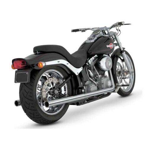 V&H SOFTAIL DUALS 2-1/8 INCH HEAD PIPE HEAT SHIELDS; 1-3/4 INCH HEAD PIPES; CHROME. Webshop voor onderdelen en parts voor Harley-Davidson