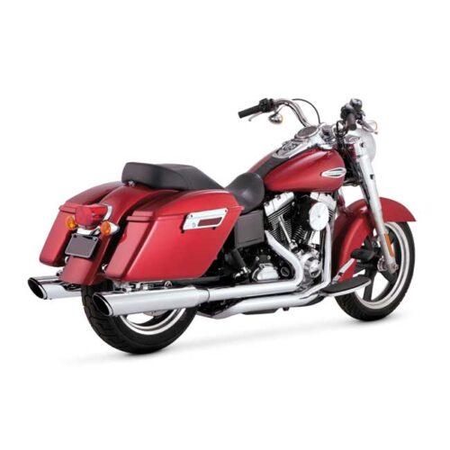 V&H TWIN SLASH DUALS CHROME; TRUE DUAL HEADPIPES & MUFFLER SET. Webshop voor onderdelen en parts voor Harley-Davidson