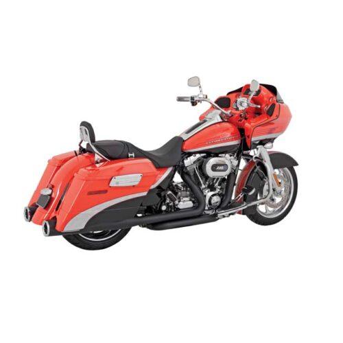 V&H HI-OUTPUT SLIP-ONS BLACK. Webshop voor onderdelen en parts voor Harley-Davidson