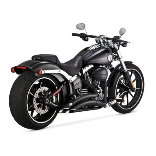 V&H BIG RADIUS 2-2 BLACK . Webshop voor onderdelen en parts voor Harley-Davidson