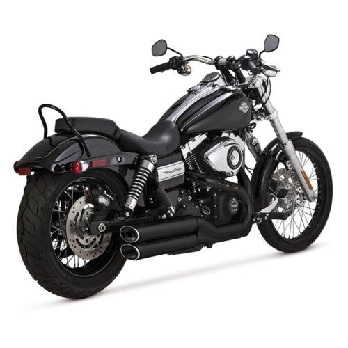 "V&H TWIN SLASH 3-1/4"" SLIP ONS EC EC APPROVED; 3-1/4 INCH FULL COVERAGE HEATSHIELDS; BLACK. Webshop voor onderdelen en parts voor Harley-Davidson"
