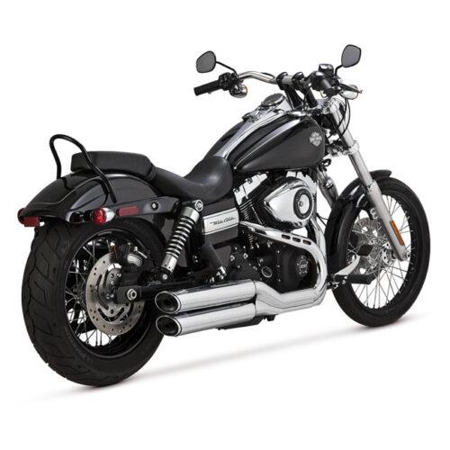 "V&H TWIN SLASH 3-1/4"" SLIP ONS EC EC APPROVED; 3-1/4 INCH FULL COVERAGE HEATSHIELDS; CHROME. Webshop voor onderdelen en parts voor Harley-Davidson"