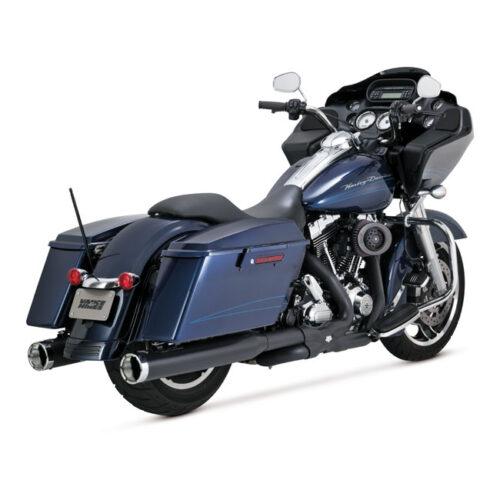 V&H MONSTER ROUND SLIP-ONS BLACK. Webshop voor onderdelen en parts voor Harley-Davidson