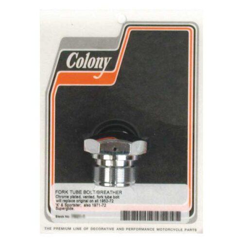 COLONY FORK TUBE CAPS CHROME. Webshop voor onderdelen en parts voor Harley-Davidson