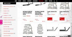 Uitlaten voor Harley-Davidson in de Downtown webshop
