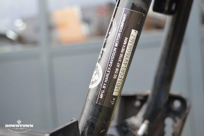 Harley Davidson frame met kenteken papieren